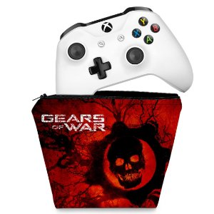 Capa Xbox One Controle Case - Gears of War - Skull