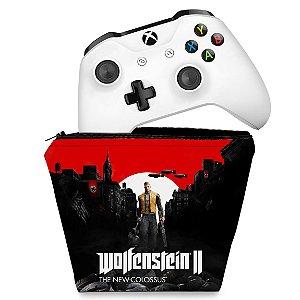 Capa Xbox One Controle Case - Wolfenstein 2 New Order