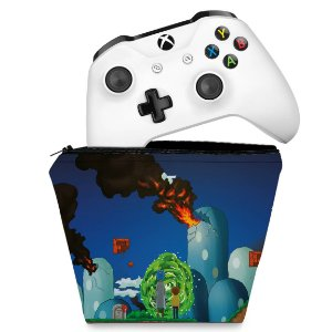 Capa Xbox One Controle Case - Rick And Morty Mario