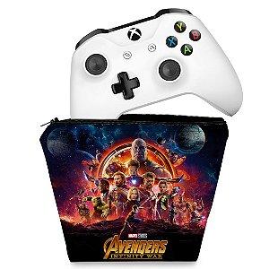 Capa Xbox One Controle Case - Os Vingadores: Guerra Infinita