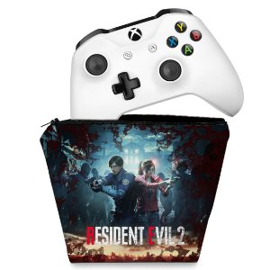 Capa Xbox One Controle Case - Resident Evil 2 Remake