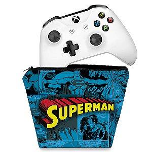 Capa Xbox One Controle Case - Super Homem Superman Comics