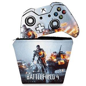 KIT Capa Case e Skin Xbox One Fat Controle - Battlefield 4