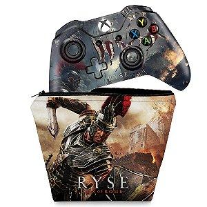 KIT Capa Case e Skin Xbox One Fat Controle - Ryse