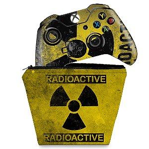 KIT Capa Case e Skin Xbox One Fat Controle - Radioativo