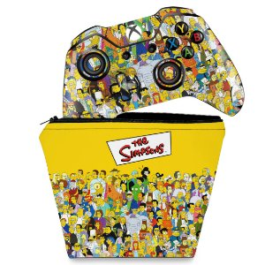 KIT Capa Case e Skin Xbox One Fat Controle - The Simpsons