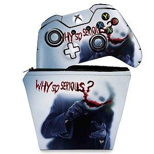 KIT Capa Case e Skin Xbox One Fat Controle - Coringa - Joker