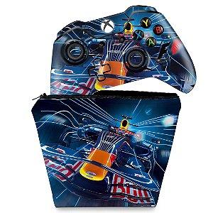 KIT Capa Case e Skin Xbox One Fat Controle - Formula 1