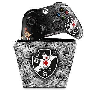 KIT Capa Case e Skin Xbox One Fat Controle - Vasco