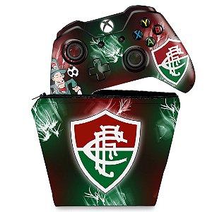 KIT Capa Case e Skin Xbox One Fat Controle - Fluminense