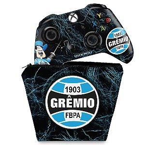 KIT Capa Case e Skin Xbox One Fat Controle - Gremio