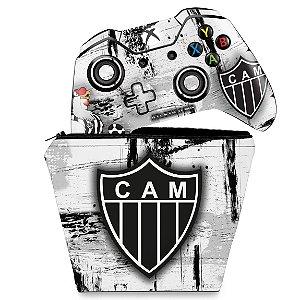 KIT Capa Case e Skin Xbox One Fat Controle - Atletico Mineiro