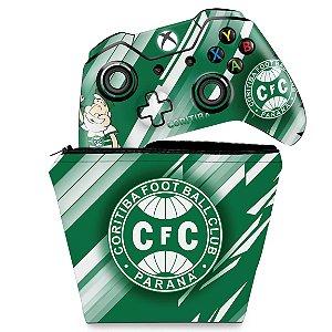 KIT Capa Case e Skin Xbox One Fat Controle - Coritiba