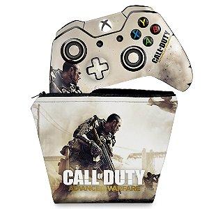 KIT Capa Case e Skin Xbox One Fat Controle - Call of Duty Advanced Warfare