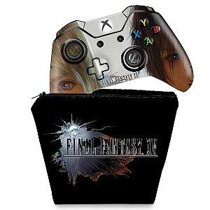 KIT Capa Case e Skin Xbox One Fat Controle - Final Fantasy XV #A