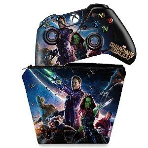 KIT Capa Case e Skin Xbox One Fat Controle - Guardiões da Galaxia