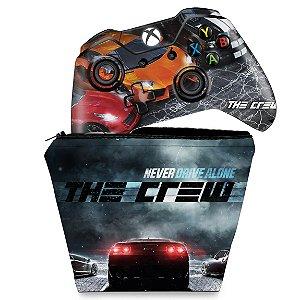 KIT Capa Case e Skin Xbox One Fat Controle - The Crew
