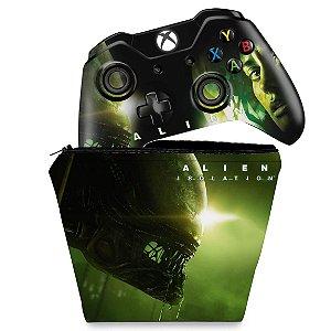 KIT Capa Case e Skin Xbox One Fat Controle - Alien Isolation