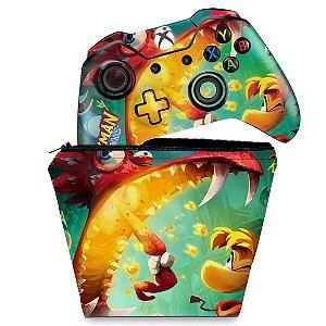 KIT Capa Case e Skin Xbox One Fat Controle - Rayman Legends