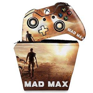KIT Capa Case e Skin Xbox One Fat Controle - Mad Max