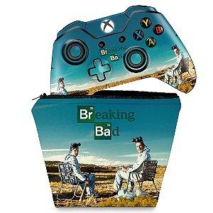 KIT Capa Case e Skin Xbox One Fat Controle - Breaking Bad