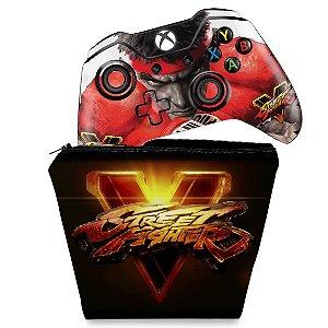 KIT Capa Case e Skin Xbox One Fat Controle - Street Fighter V