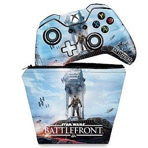 KIT Capa Case e Skin Xbox One Fat Controle - Star Wars - Battlefront
