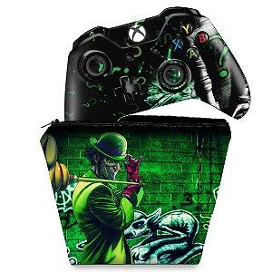KIT Capa Case e Skin Xbox One Fat Controle - Charada Batman