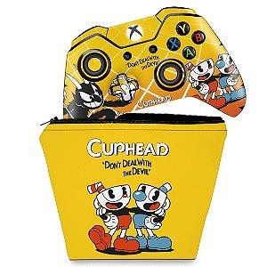 KIT Capa Case e Skin Xbox One Fat Controle - Cuphead
