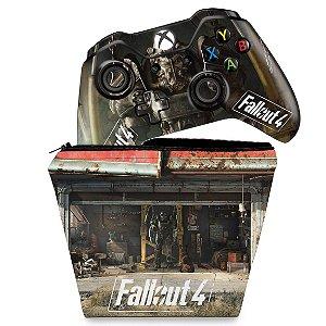 KIT Capa Case e Skin Xbox One Fat Controle - Fallout 4