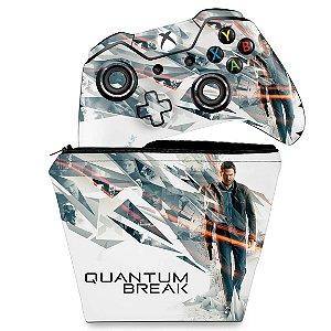 KIT Capa Case e Skin Xbox One Fat Controle - Quantum Break
