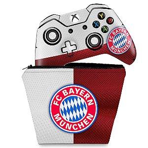 KIT Capa Case e Skin Xbox One Fat Controle - Bayern de Munique