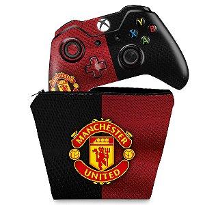 KIT Capa Case e Skin Xbox One Fat Controle - Manchester United