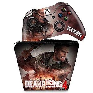 KIT Capa Case e Skin Xbox One Fat Controle - Dead Rising 4