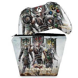 KIT Capa Case e Skin Xbox One Fat Controle - For Honor