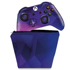 KIT Capa Case e Skin Xbox One Fat Controle - Abstrata #1