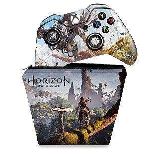 KIT Capa Case e Skin Xbox One Fat Controle - Horizon Zero Dawn