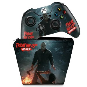 KIT Capa Case e Skin Xbox One Fat Controle - Friday the 13th The game - Sexta-Feira 13