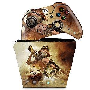 KIT Capa Case e Skin Xbox One Fat Controle - Recore