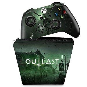 KIT Capa Case e Skin Xbox One Fat Controle - Outlast 2