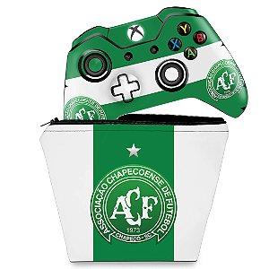 KIT Capa Case e Skin Xbox One Fat Controle - Chapecoense Chape
