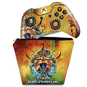 KIT Capa Case e Skin Xbox One Fat Controle - Thor Ragnarok