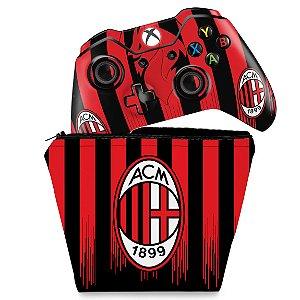 KIT Capa Case e Skin Xbox One Fat Controle - AC Milan