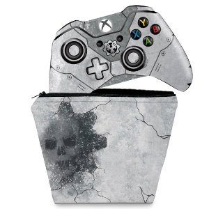 KIT Capa Case e Skin Xbox One Fat Controle - Gears 5 Special Edition Bundle