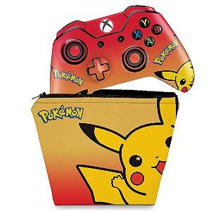 KIT Capa Case e Skin Xbox One Fat Controle - Pokemon Pikachu