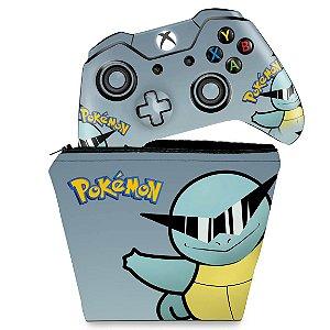 KIT Capa Case e Skin Xbox One Fat Controle - Pokemon Squirtle