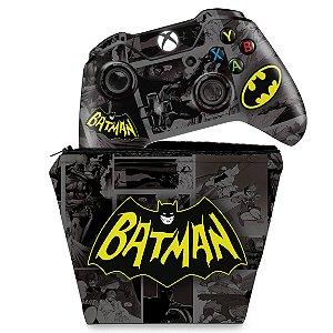 KIT Capa Case e Skin Xbox One Fat Controle - Batman Comics