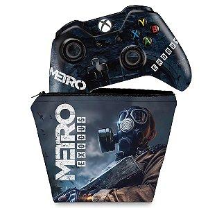 KIT Capa Case e Skin Xbox One Fat Controle - Metro Exodus