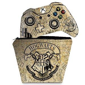 KIT Capa Case e Skin Xbox One Fat Controle - Harry Potter