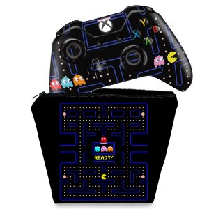 KIT Capa Case e Skin Xbox One Fat Controle - Pac Man